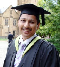 Champaka Sri Harsha Vithananarachchi at graduation